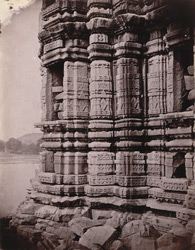 Close view of mandapa of the Kakra Math Temple, Mahoba